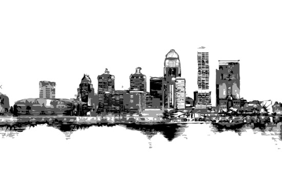 louisville-skyline-poster 5 feet wide